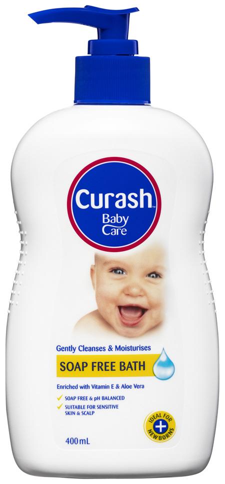 Curash Babycare Moisturising Soap Free Bath 400mL