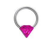 Cutout Diamond Captive Bead Ring