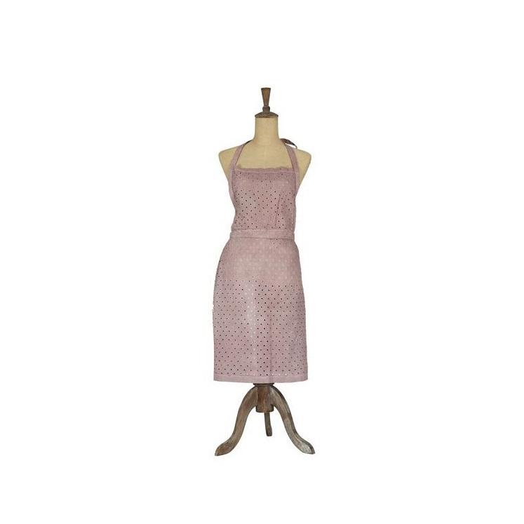 Cygnet Lace Apron - Mushroom/Pink