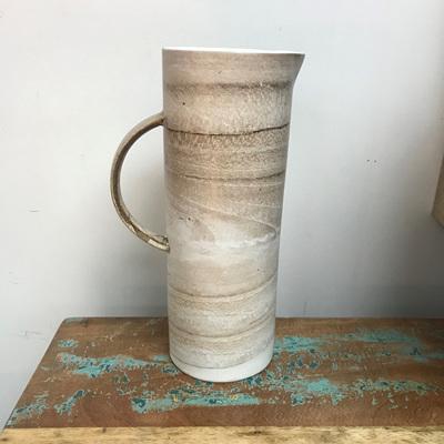 Cylinder Water Jug - Concrete 27cmh