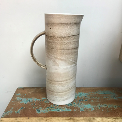 Cylinder Water Jug - Concrete 27cmh