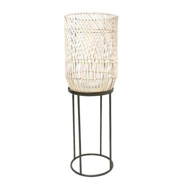 Dabir Floor Standing Lantern - White Wash - 74cmh