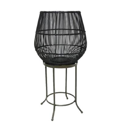 Dacio Floor Standing Lantern - Black - Large
