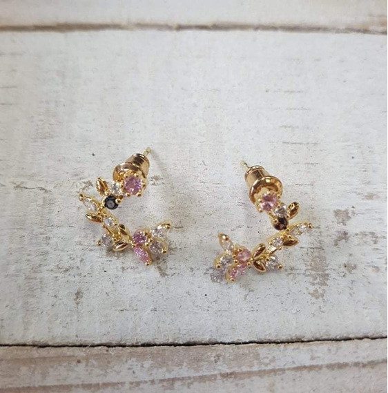 Dainty Crescent Earrings
