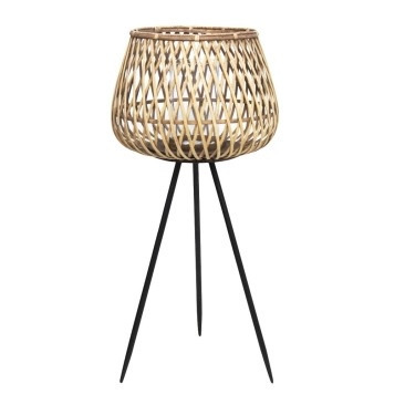 Dami Bamboo Lantern - Natural & Black - 86cmh