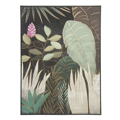 Dark Tropic B Canvas Print 100x140cm