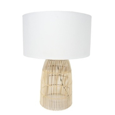 Darling Table Lamp - Natural Cane 74.5cmh