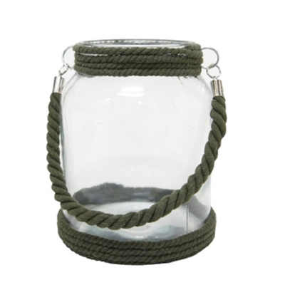 Dean Rope Lantern- Olive Green