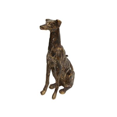 Decorative Greyhound Dog Sitting