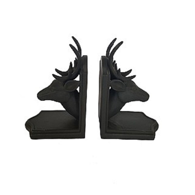 Deer Head Bookends - Black