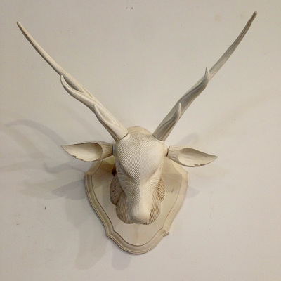 Deer Head Wall Decor - White