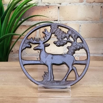 Deer Trivet - Cast Iron