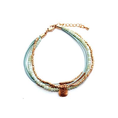 Del Ray Bracelet - Green/Rose Gold