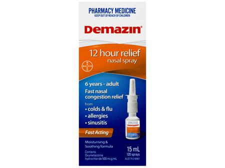 Demazin 12 Hour Relief Nasal Spray 15mL