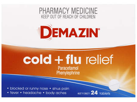 Demazin Cold & Flu Relief 24 Tablets