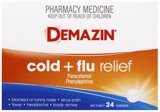 Demazin Cold & Flu Relief 24 Tablets