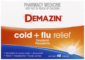Demazin Cold & Flu Relief 48 Tablets