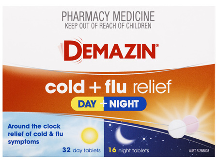 Demazin Cold & Flu Relief Day + Night 48 Tablets