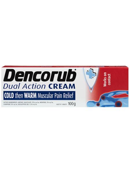 Dencorub Dual Action Pain Relieving Cream 100g