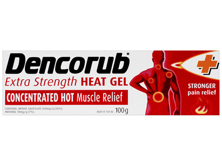 Dencorub Extra Strength Heat Gel 100g