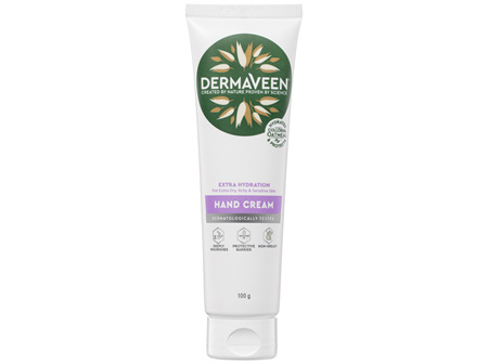 DermaVeen Extra Hydration Hand Cream for Extra Dry, Itchy & Sensitive Skin 100g