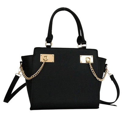 Designer Inspired Handbag - Black
