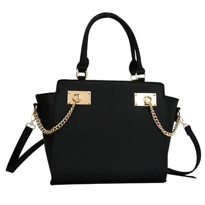 Designer Inspired Handbag - Black