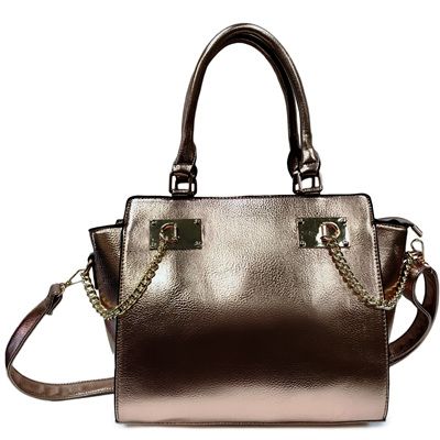 Designer Inspired Handbag - Rose Gold