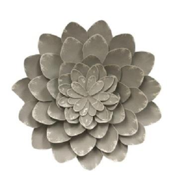 Designer Metal Flower Wall Art 41cm D
