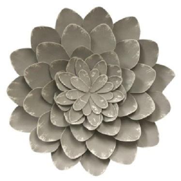 Designer Metal Flower Wall Art 49.5cm D