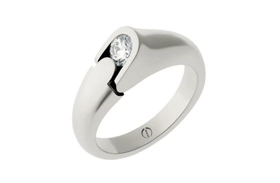 Designer round brilliant diamond platinum engagement ring