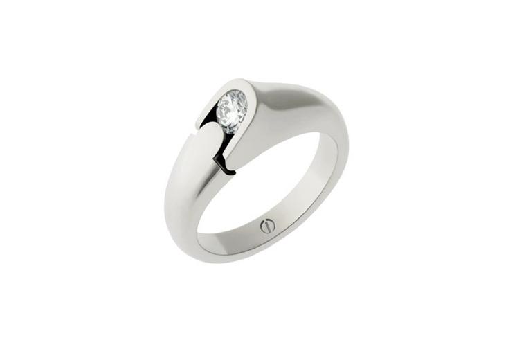 Designer round brilliant diamond platinum engagement ring