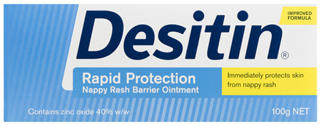 Desitin Rapid Protection Nappy Rash Barrier Ointment 100g