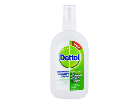 Dettol Antibacterial Wound Wash Spray Disinfectant 100ml