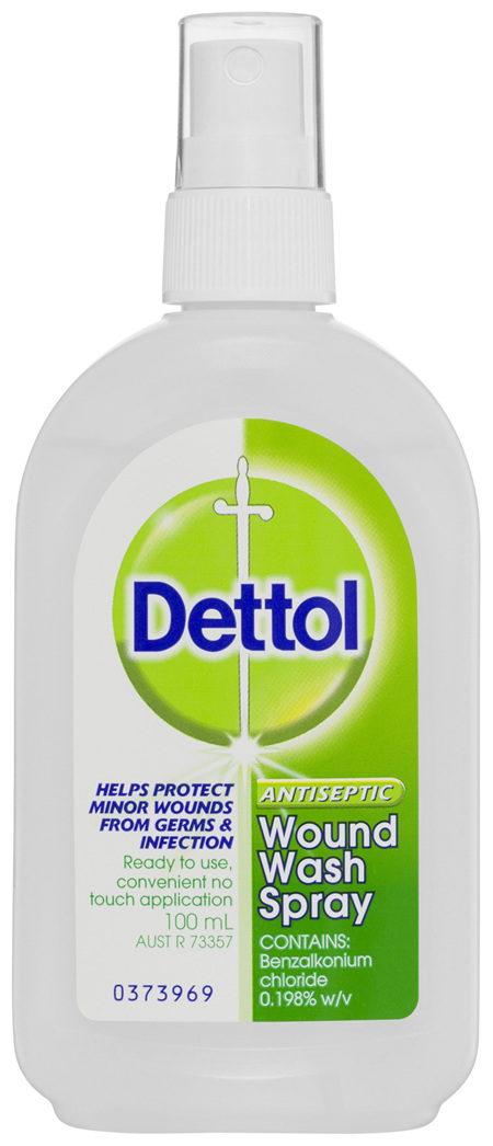 Dettol Antiseptic Disinfectant Wound Wash Spray 100mL
