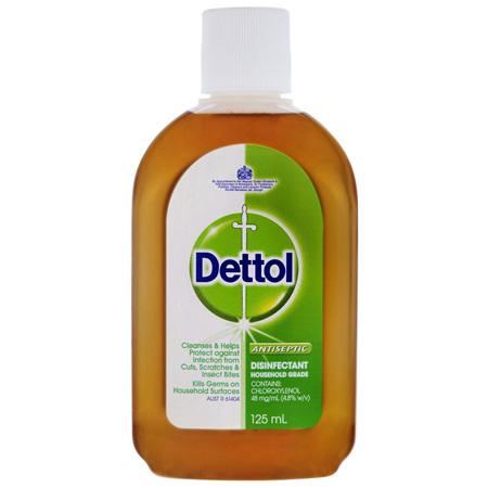 Dettol Classic Antibacterial Disinfectant Liquid Solution 125mL