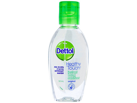 Dettol Healthy Touch Liquid Antibacterial Instant Hand Sanitiser 50mL