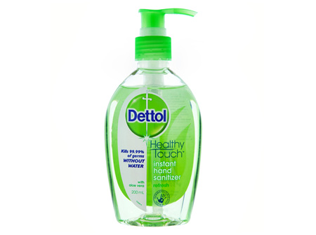 Dettol Healthy Touch Liquid Antibacterial Instant Hand Sanitiser Refresh 200mL