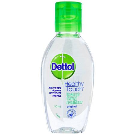 Dettol Healthy Touch Liquid Antibacterial Instant Hand Sanitiser 50mL