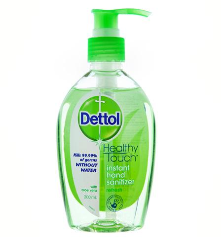 Dettol Healthy Touch Liquid Antibacterial Instant Hand Sanitiser Refresh 200mL