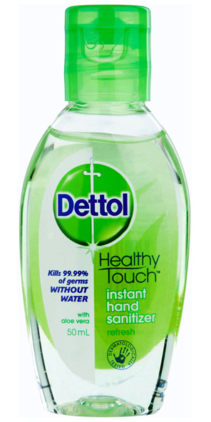 Dettol Healthy Touch Liquid Antibacterial Instant Hand Sanitiser Refresh 50mL