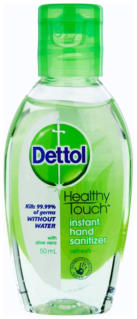 Dettol Healthy Touch Liquid Antibacterial Instant Hand Sanitiser Refresh 50mL