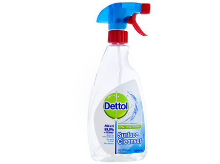 Dettol Multipurpose Antibacterial Disinfectant Surface Cleaning Trigger Spray 500mL