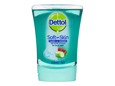 Dettol No Touch Antibacterial Hand Wash Hydrating Cucumber Refill 250ml