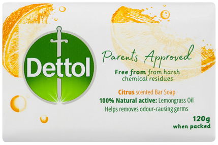 Dettol Parents Approved Bar Soap Anti-bacterial Citrus 3 x 120g