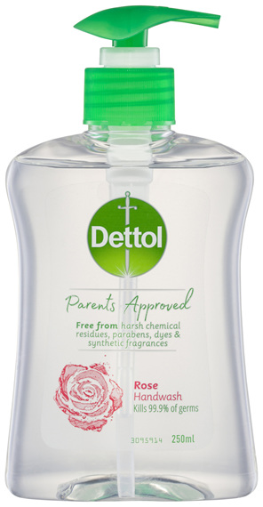 Dettol Parents Approved Hand Wash Anti-bacterial Rose 250ml
