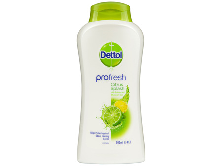 Dettol Profresh Shower Gel Body Wash Citrus Splash 500mL