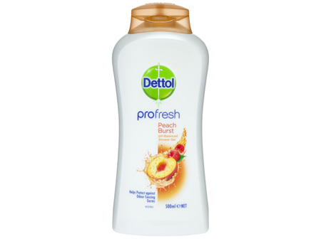 Dettol Profresh Shower Gel Body Wash Peach Burst 500mL