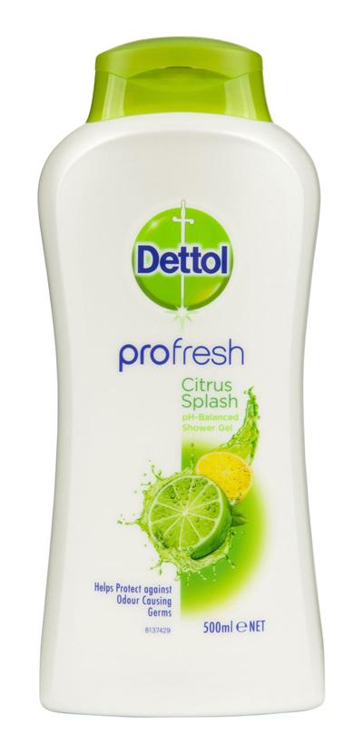 Dettol Profresh Shower Gel Citrus Splash Body Wash 950ml