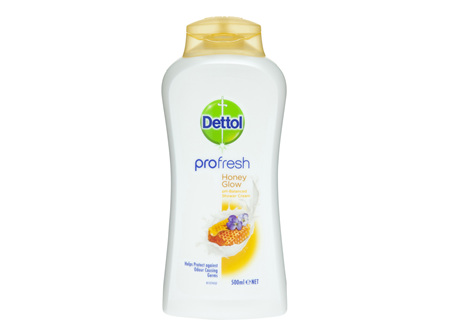 Dettol Profresh Shower Gel Cream Honey Glow Body Wash 500ml